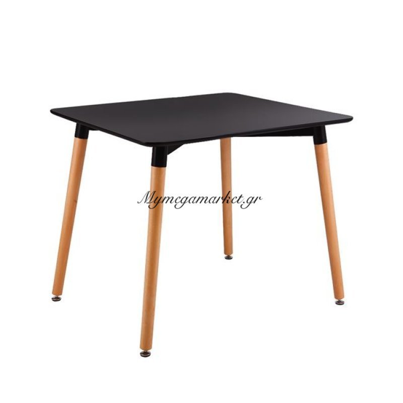 Art Τραπέζι 80X80Cm Μαύρο Στην κατηγορία Τραπέζια - Τραπεζαρίες | Mymegamarket.gr