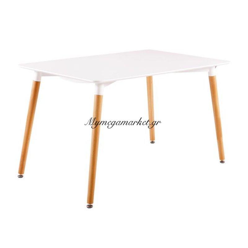 Art Τραπέζι 120X80Cm Λευκό Στην κατηγορία Τραπέζια - Τραπεζαρίες | Mymegamarket.gr