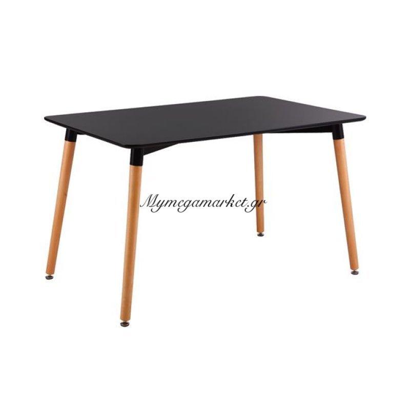 Art Τραπέζι 120X80Cm Μαύρο Στην κατηγορία Τραπέζια - Τραπεζαρίες | Mymegamarket.gr