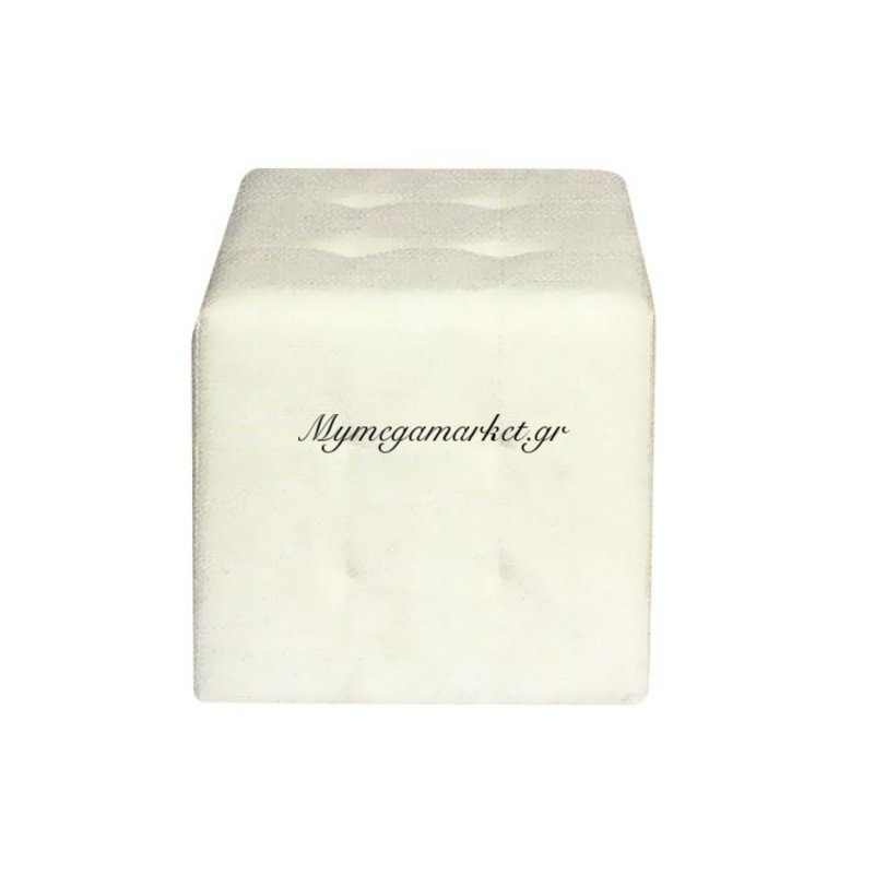 Cony Σκαμπώ Pu Άσπρο 37X37X42Cm Στην κατηγορία Σκαμπό πτυσσόμενα - Υφασμάτινα | Mymegamarket.gr