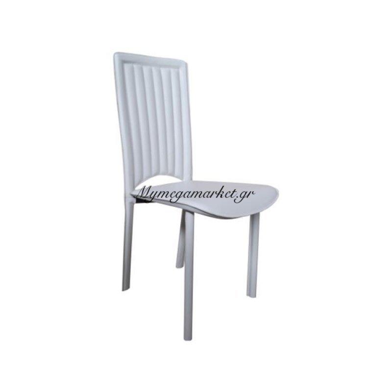 Cindy Καρέκλα Pvc Άσπρο Στην κατηγορία Καρέκλες εσωτερικού χώρου | Mymegamarket.gr