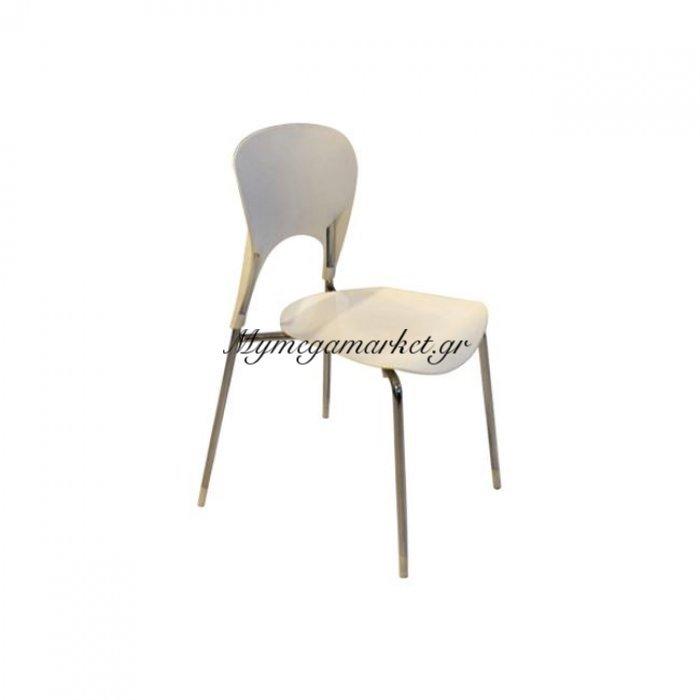 Isis Καρέκλα χρώμιο/pp Ivory | Mymegamarket.gr