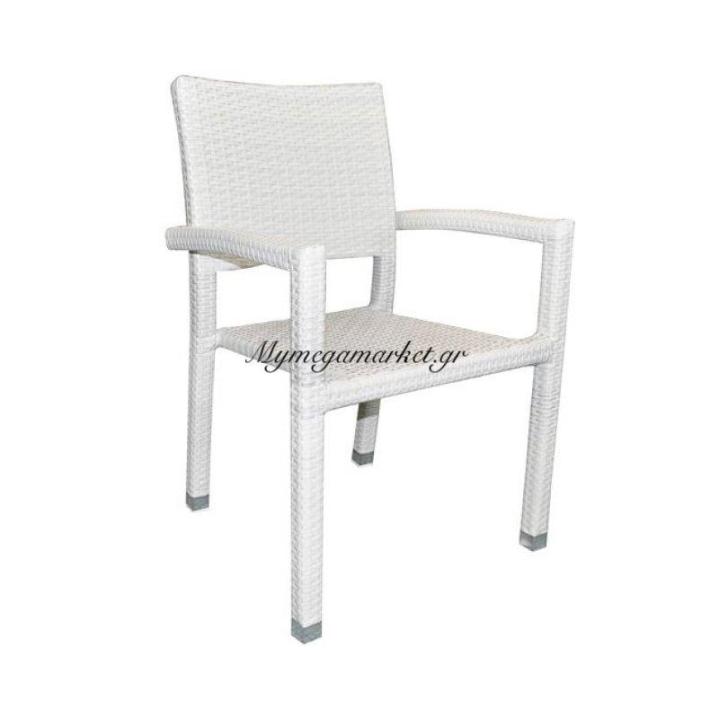 Corner Πολυθ.alu/wicker Ice White 57X60X88Cm Στην κατηγορία Πολυθρόνες κήπου | Mymegamarket.gr
