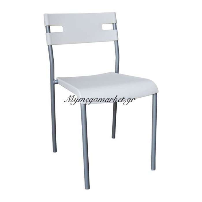 Swift Καρέκλα Pp Λευκό (Βαφή Silver) | Mymegamarket.gr