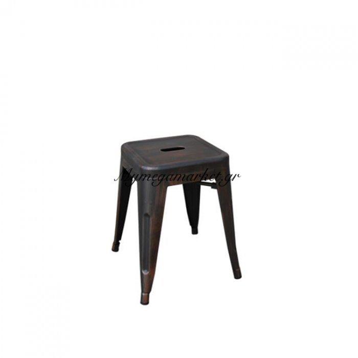Relix Σκαμπώ H.45Cm Μεταλ.antique Black (Συσκ.10) | Mymegamarket.gr