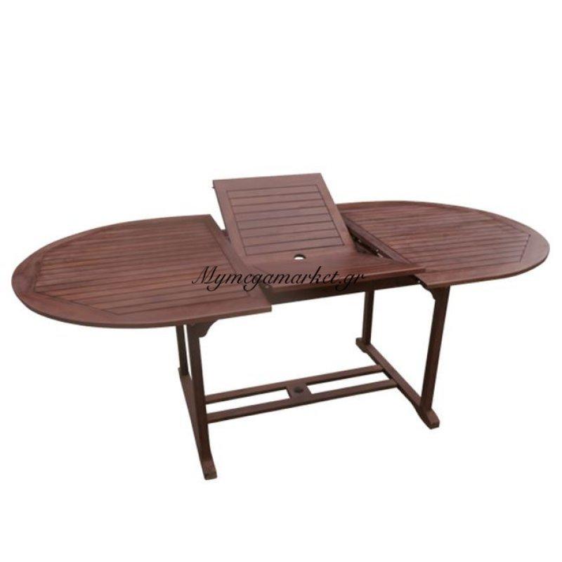 Garden Τραπέζι 150+50X100Cm Oval Επεκτ.acacia Στην κατηγορία Τραπέζια κήπου | Mymegamarket.gr
