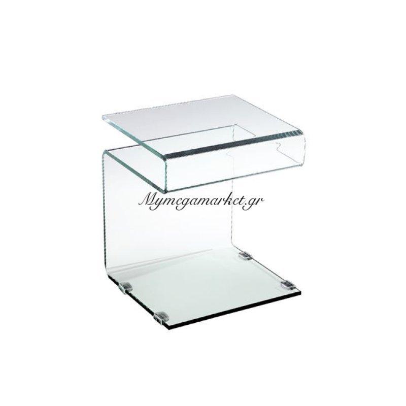Glasser Clear Βοηθητικό τραπεζάκι Γυαλί 12 Mm 42X38X48Cm Στην κατηγορία Βοηθητικά τραπεζάκια σαλονιού | Mymegamarket.gr