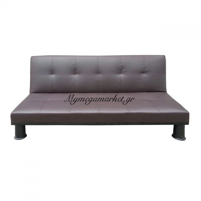 Ronald Καναπές κρεβάτι Pu Σκ.καφέ 190X89X82Cm | Mymegamarket.gr