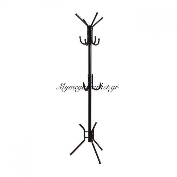 Leroy Καλόγερος Μεταλλικός Μαύρος | Mymegamarket.gr