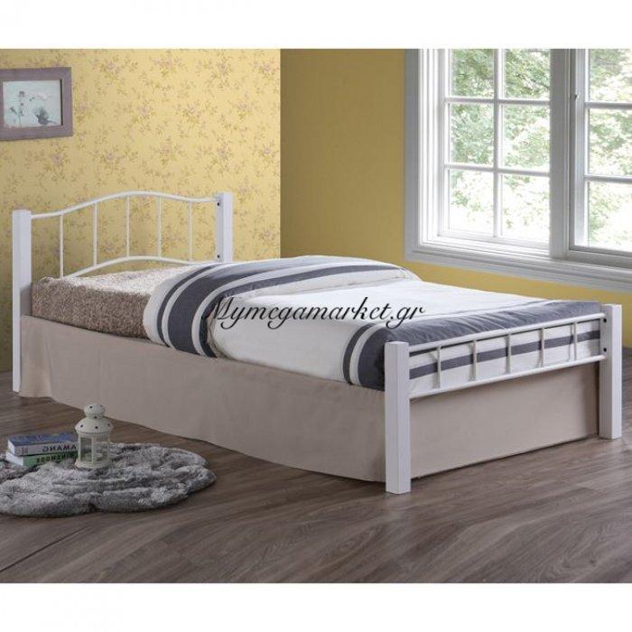Paloma Κρεβάτι Μονό 100X200Cm Μεταλ.άσπρο/ξύλο Άσπρο | Mymegamarket.gr