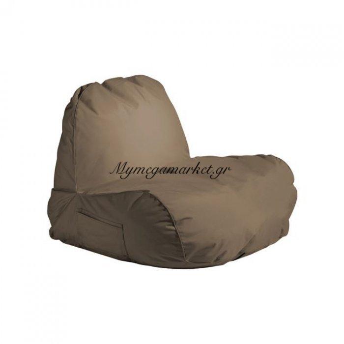 Pogo Πολυθρόνα Πουφ Ύφ.καφέ 100% Αδιάβροχο | Mymegamarket.gr