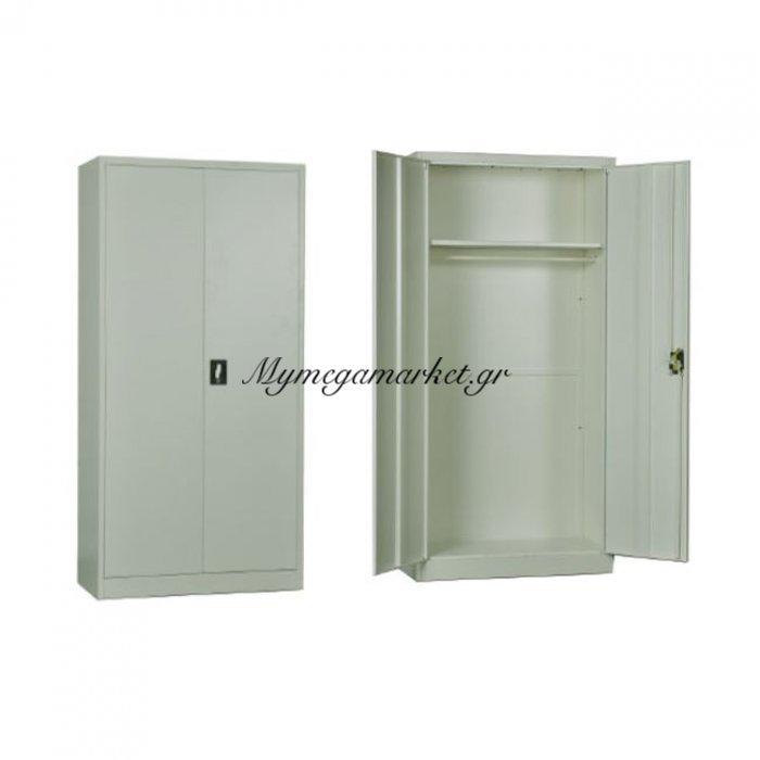 Ντουλαπα Μεταλλική 90X45X185Cm Λευκή | Mymegamarket.gr