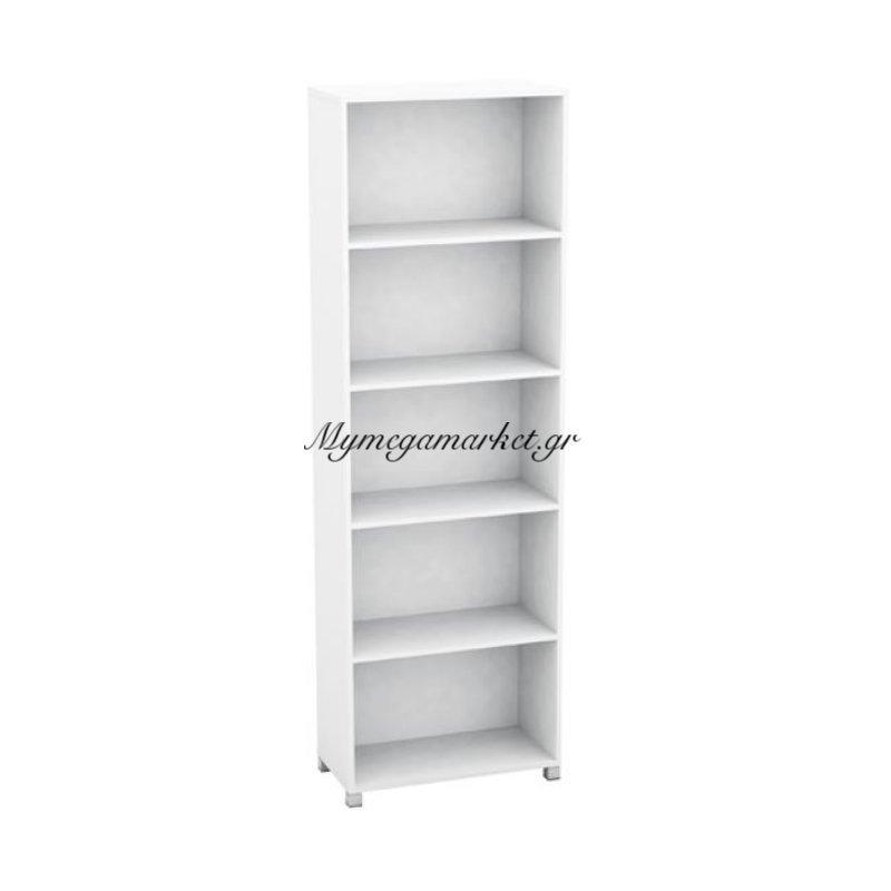 Decon Βιβλιοθήκη 60X30X186Cm Άσπρη Στην κατηγορία Βιβλιοθήκες - Ραφιέρες   Mymegamarket.gr