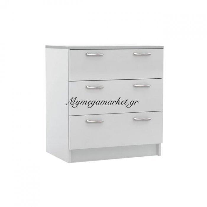 Decon Συρταριέρα 3-Σ 60X40X68Cm Άσπρη | Mymegamarket.gr