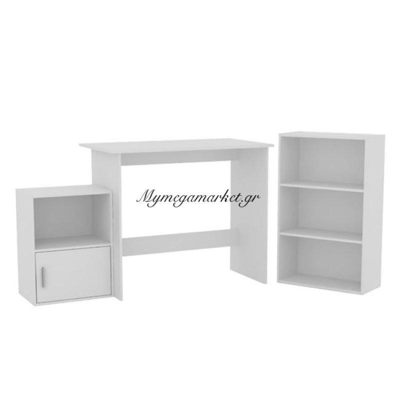 Decon Set Γραφειο 3-Τεμάχια Άσπρο Στην κατηγορία Γραφεία | Mymegamarket.gr