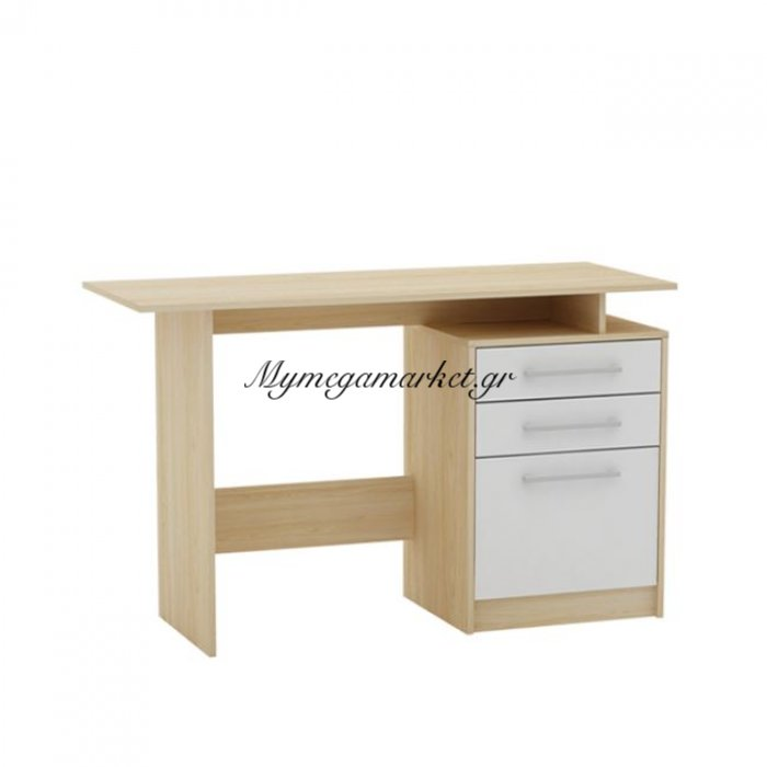 Decon Γραφείο 120X48Cm Απόχρ.σημύδας/άσπρο | Mymegamarket.gr