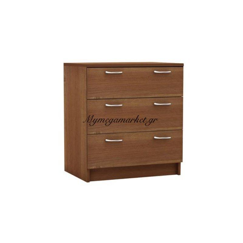 Decon Συρταριέρα 3-Σ 60X40X68Cm Κερασί Στην κατηγορία Κομοδίνα - Συρταριέρες | Mymegamarket.gr