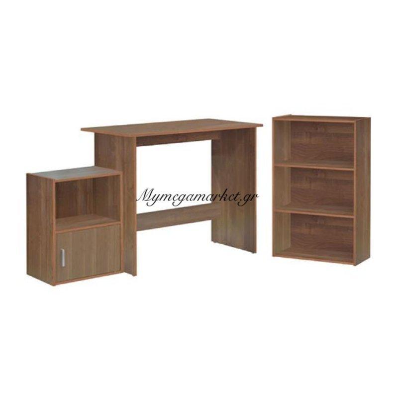 Decon Set Γραφειο 3-Τεμάχια Κερασί Στην κατηγορία Γραφεία   Mymegamarket.gr