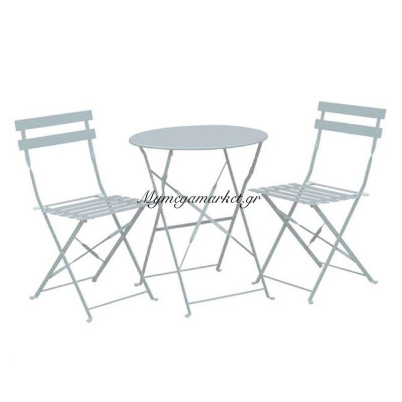 Capo Set (Τραπ.φ60Cm+2 Καρ) Μεταλ.άσπρο Στην κατηγορία Τραπεζαρίες κήπου με καρέκλες | Mymegamarket.gr