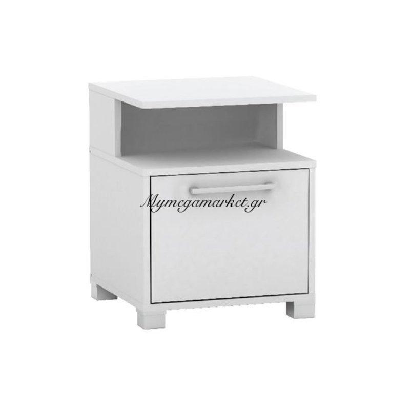 Decon Κομοδίνο 40X40X50Cm Άσπρο Στην κατηγορία Κομοδίνα - Συρταριέρες | Mymegamarket.gr