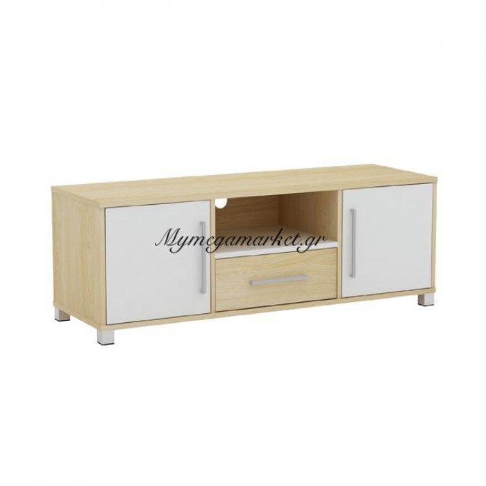 Decon Έπιπλο Tv 120X40X39Cm Απόχρ.σημύδας/άσπρο | Mymegamarket.gr