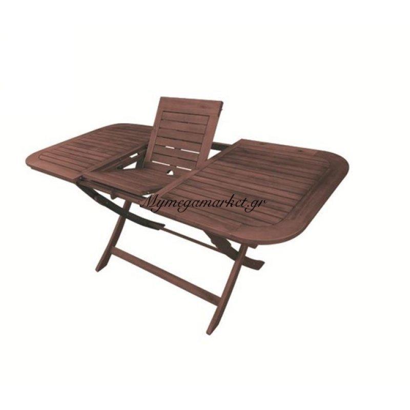 Easy Τραπ.120+40X80Cm Επεκτ.πτυσ/νο Acacia Στην κατηγορία Τραπέζια κήπου | Mymegamarket.gr