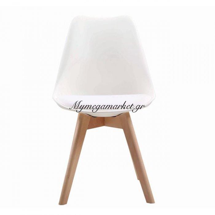 Martin Καρέκλα Pp Λευκό (Ξύλινο Πόδι) | Mymegamarket.gr