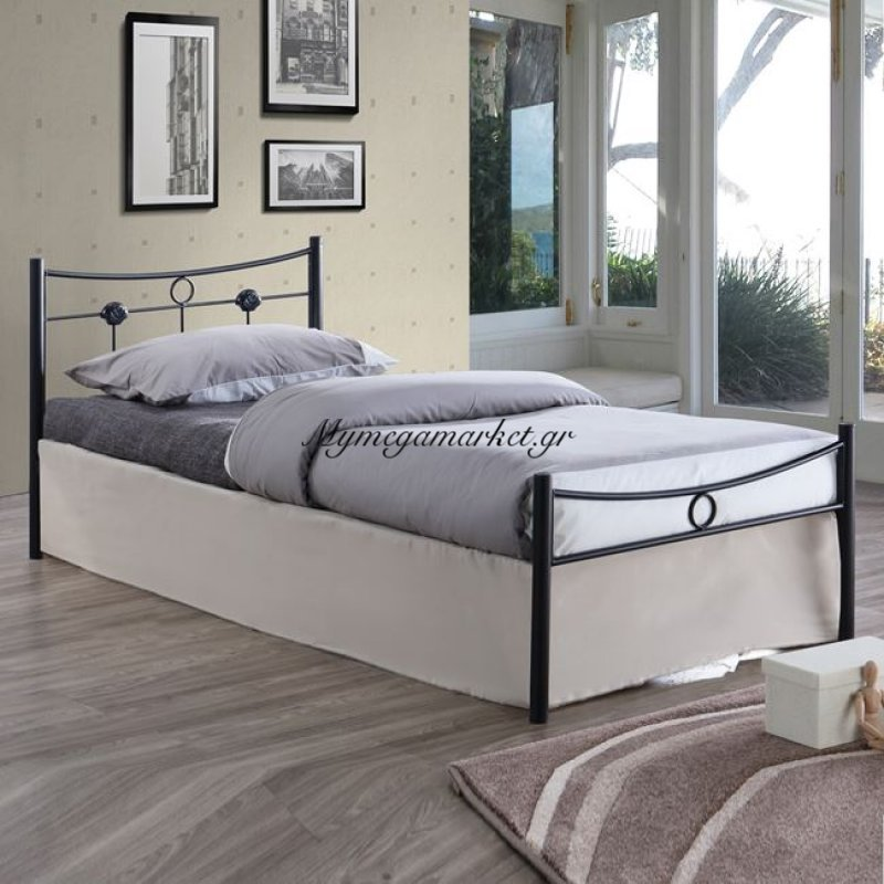 Dugan Κρεβάτι Μονό 90X200Cm Μεταλ.σφυρήλατο Μαύρο Στην κατηγορία Κρεβάτια ξύλινα - Μεταλλικά | Mymegamarket.gr