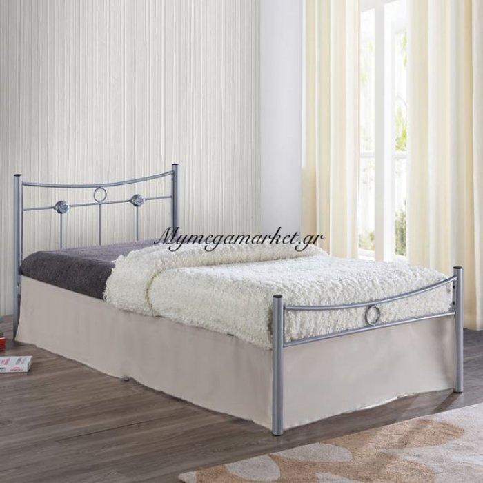 Dugan Κρεβάτι Μονό 90X200Cm Μεταλ.silver | Mymegamarket.gr