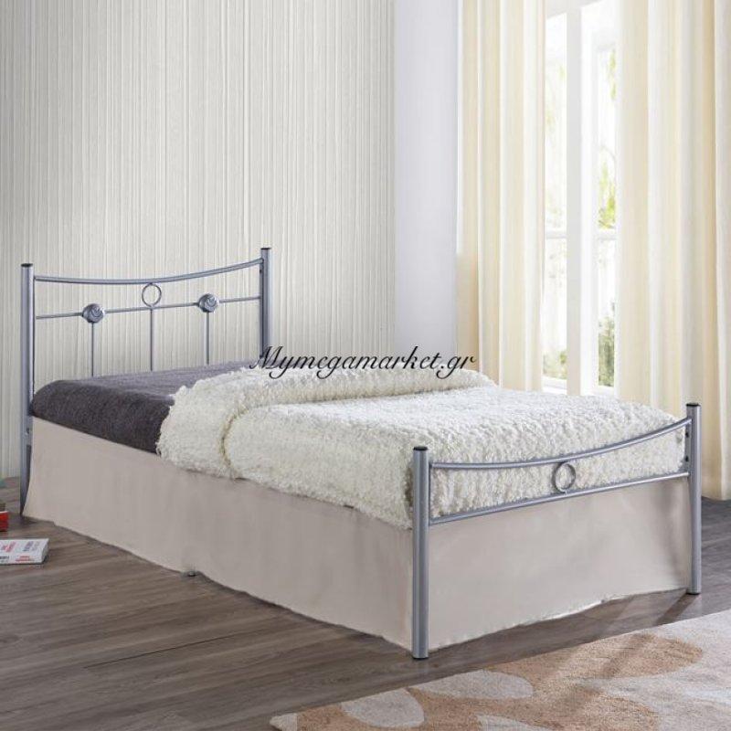 Dugan Κρεβάτι Μονό 90X200Cm Μεταλ.silver Στην κατηγορία Κρεβάτια ξύλινα - Μεταλλικά | Mymegamarket.gr