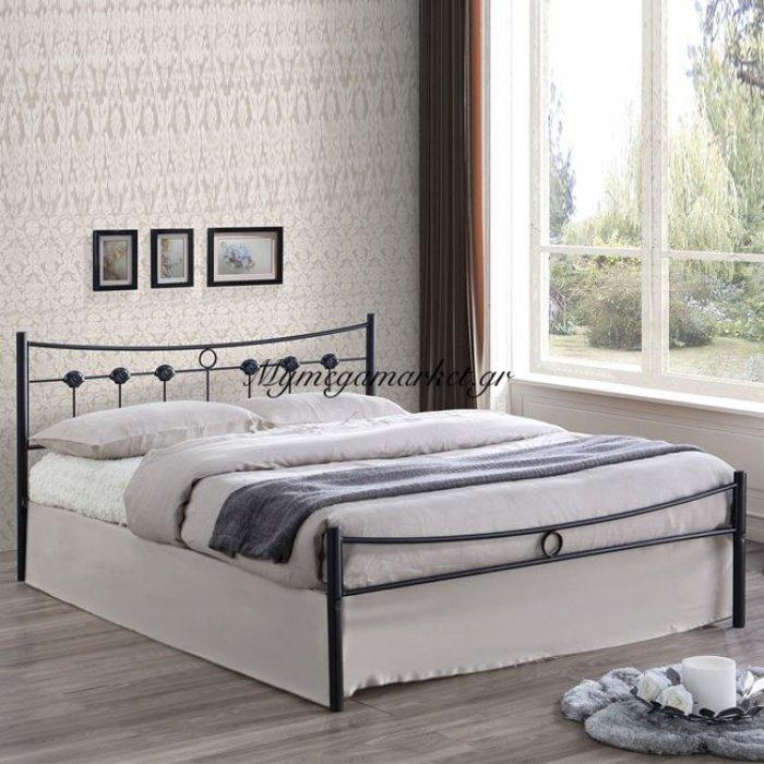 Dugan Κρεβάτι Διπλό 150X200Cm Μεταλ.σφυρήλατο Μαύρο | Mymegamarket.gr