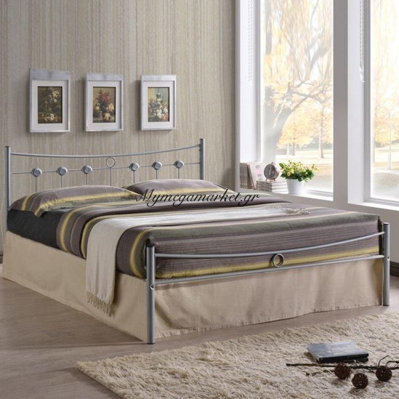 Dugan Κρεβάτι Διπλό 150X200Cm Μεταλ.silver Στην κατηγορία Κρεβάτια ξύλινα - Μεταλλικά | Mymegamarket.gr