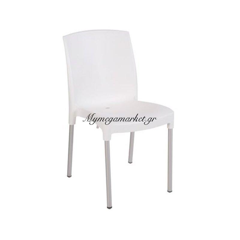 Jenny Καρέκλα Στοιβαζόμενη Pp Άσπρη Στην κατηγορία Καρέκλες κήπου - Σκαμπό | Mymegamarket.gr