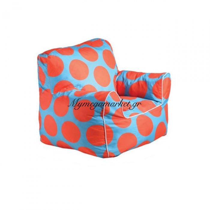 Fantic Πολ.πουφ Παιδική Ύφ.πουά Πορτοκαλί/μπλε 100% Αδιάβροχο | Mymegamarket.gr