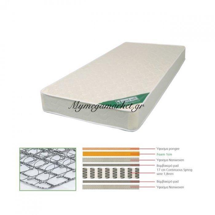 Στρωμα 90X190X(18/17)Cm Continuous Spring Μονής Όψης | Mymegamarket.gr