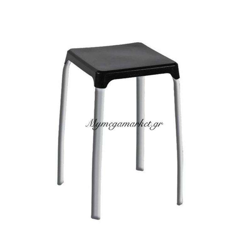 Arian Σκαμπώ Στοιβ/νο Πλαστικό Μαύρο (Βαφή Γκρι) Στην κατηγορία Σκαμπό Bar | Mymegamarket.gr