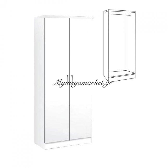 Life Ντουλάπα 80X42X180 Λευκό | Mymegamarket.gr
