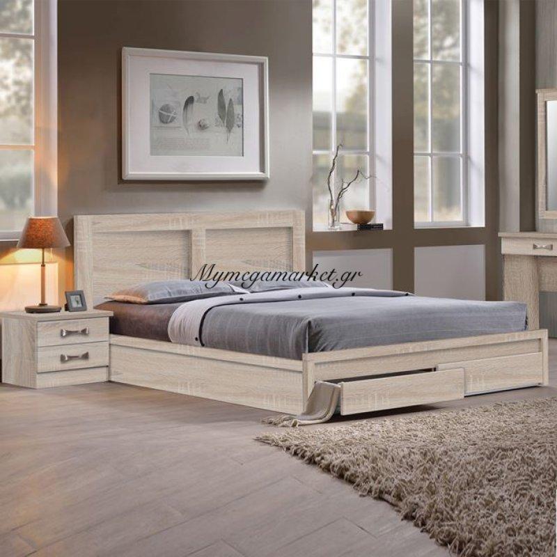 Life Κρεβάτι-Συρτάρια 150X200 Sonoma Στην κατηγορία Κρεβάτια ξύλινα - Μεταλλικά | Mymegamarket.gr