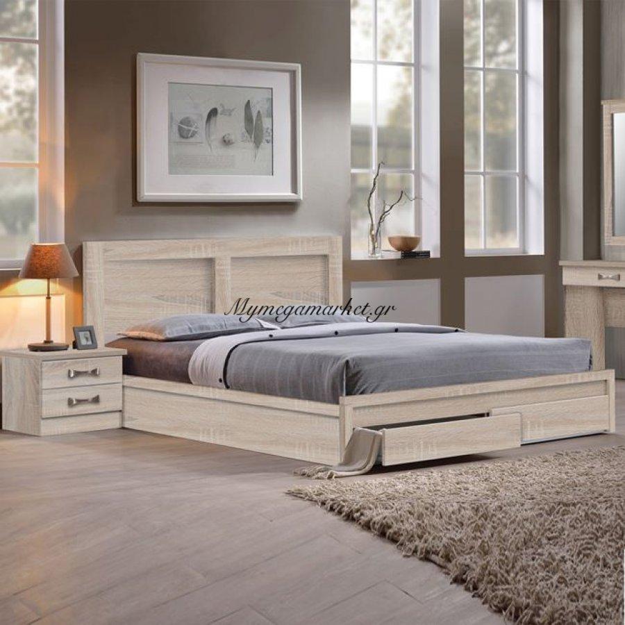 Life Κρεβάτι-Συρτάρια 150X200 Sonoma | Mymegamarket.gr
