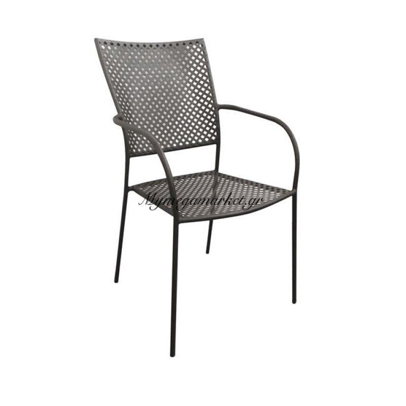 Feria Πολυθρόνα μεταλλική mesh Μαύρη Στην κατηγορία Πολυθρόνες κήπου | Mymegamarket.gr
