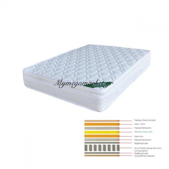 Στρωμα 160X200/28Cm Memory Foam | Mymegamarket.gr