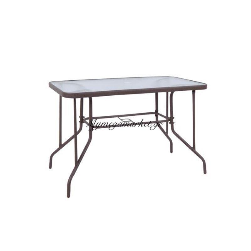 Baleno Τραπέζι 110X60Cm Μεταλ.καφέ Στην κατηγορία Τραπέζια κήπου | Mymegamarket.gr