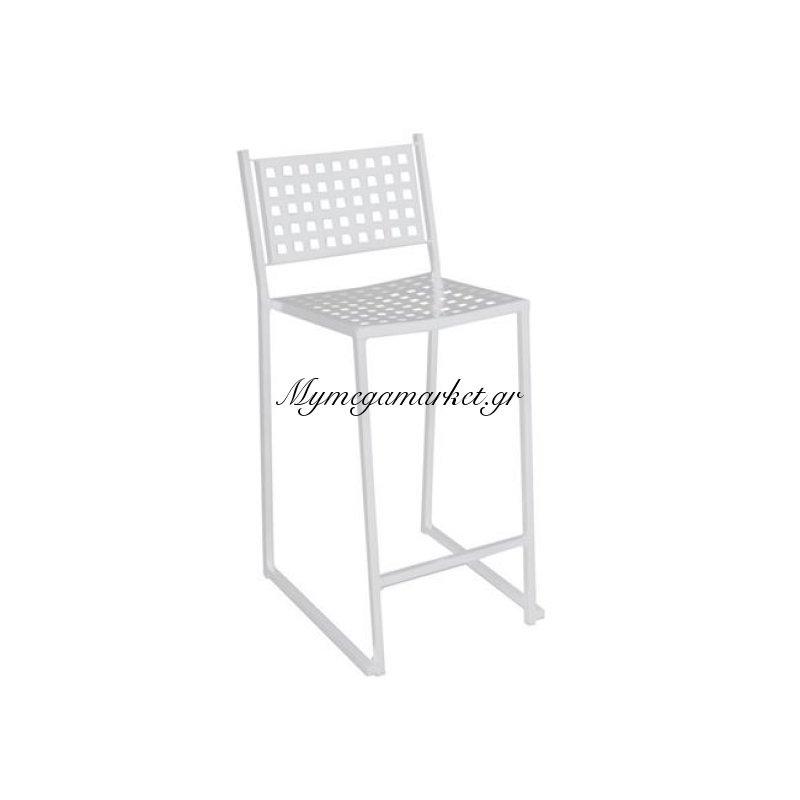 Caprice Σκαμπώ Bar Μεταλλικό άσπρο Στην κατηγορία Σκαμπό Bar | Mymegamarket.gr