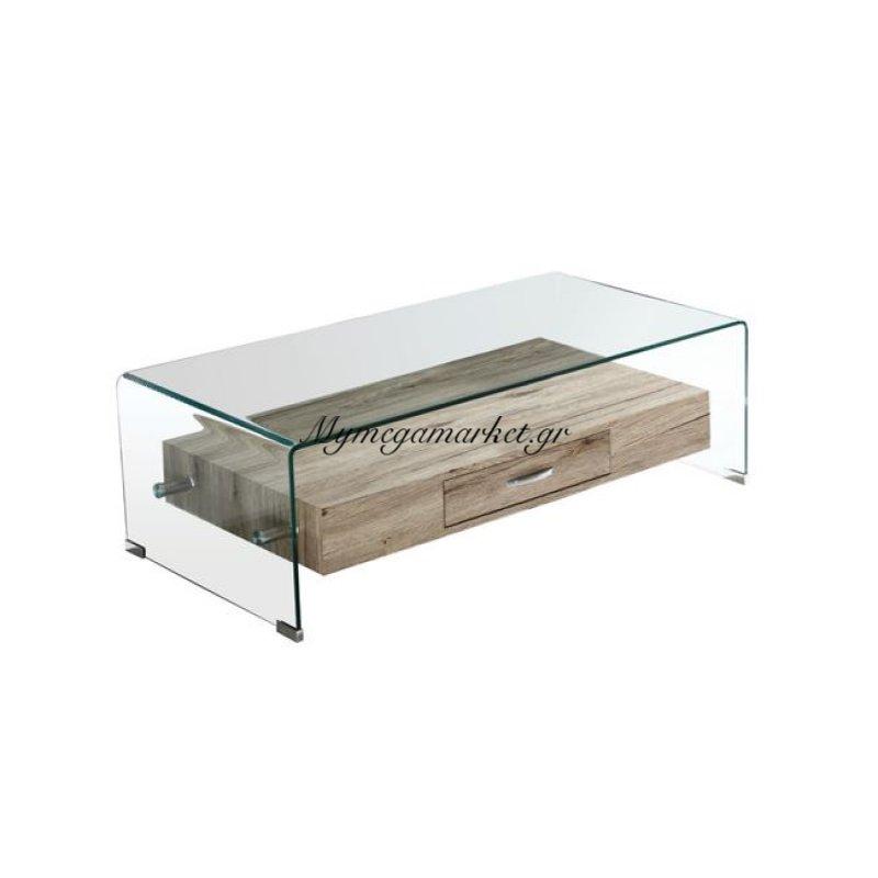 Glasser Wood Τραπ.σαλονιού Με Ράφι Clear Γυαλί 12Mm 110X55X35Cm Στην κατηγορία Τραπέζια σαλονιού | Mymegamarket.gr