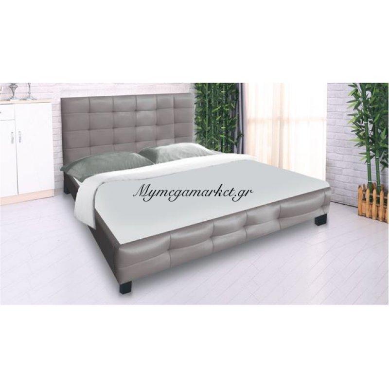 Fidel Κρεβάτι 160X200Cm Pu Cappuccino Στην κατηγορία Κρεβάτια ξύλινα - Μεταλλικά | Mymegamarket.gr