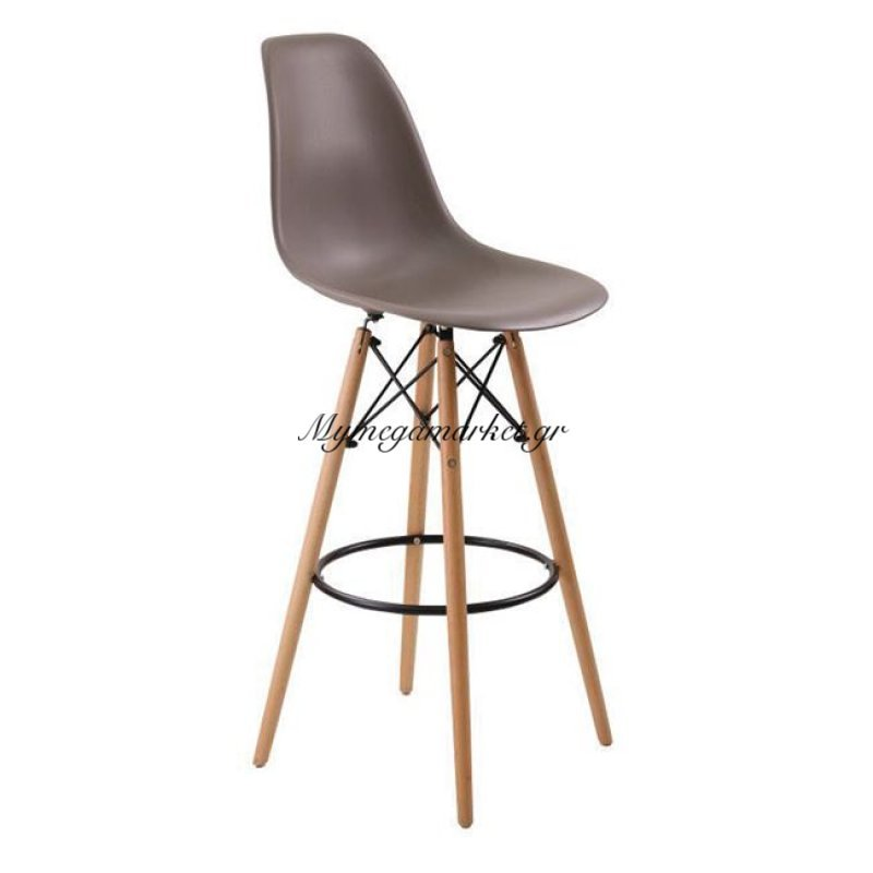 Art Wood Σκαμπώ Bar Pp Sand Beige (Με Πλάτη) Στην κατηγορία Καρέκλες εσωτερικού χώρου   Mymegamarket.gr