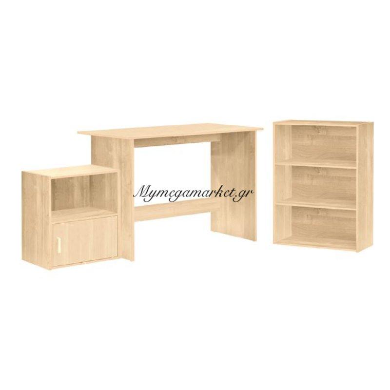 Decon Set Γραφειο 3-Τεμάχια Απόχρ.σημύδας Στην κατηγορία Γραφεία | Mymegamarket.gr
