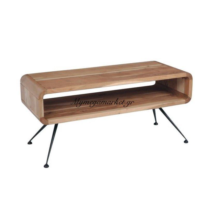 Cameo Τραπέζι σαλονιού 100X40X45Cm Ακακία Φυσικό/μεταλ.μαύρο Στην κατηγορία Τραπέζια σαλονιού | Mymegamarket.gr