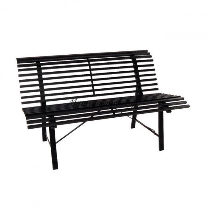 Stanley Παγκάκι Μεταλ.μαύρο 125X57Cm | Mymegamarket.gr