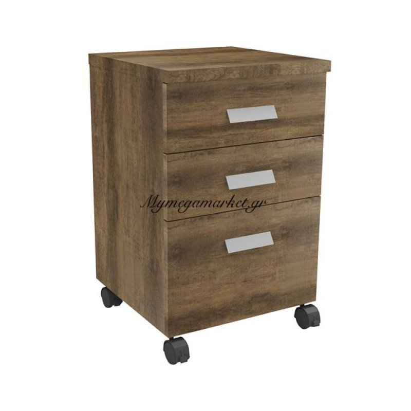 Alpine Συρταριέρα 3-Συρτ.40X40X65Cm Brown Oak Στην κατηγορία Συρταριέρες πλαστικές | Mymegamarket.gr